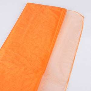 Wedding Organza Fabric Decor Orange ( W: 28 inch | L: 216 Inches ) -
