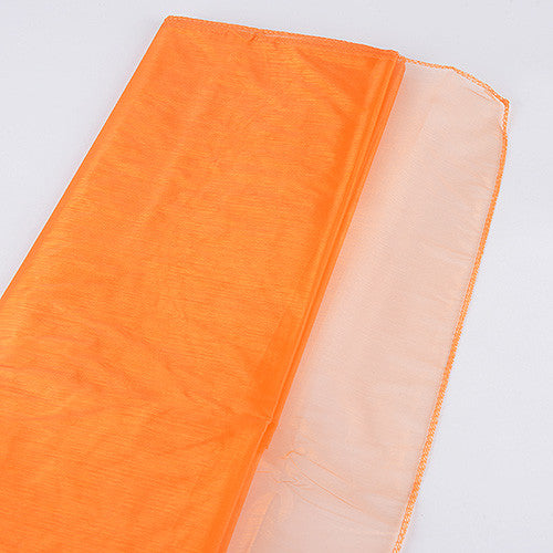 Wedding Organza Fabric Decor Orange ( W: 28 inch | L: 216 Inches )