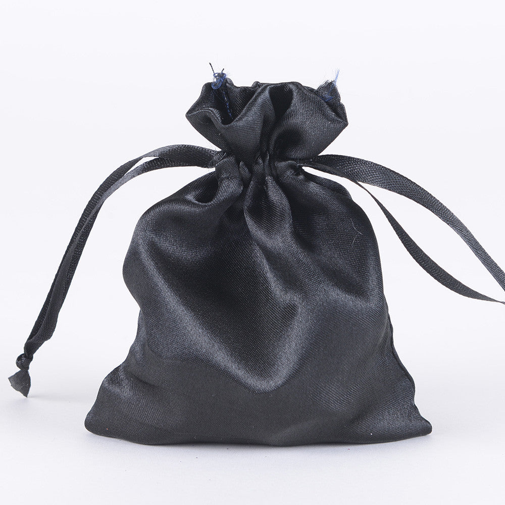 Satin Bags Black ( 3x4 Inch - 10 Bags ) -