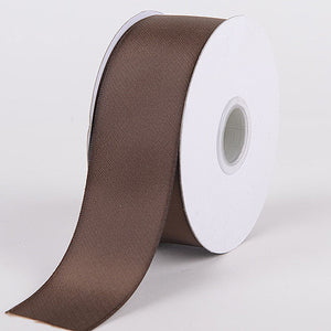 Satin Ribbon Double Face Chocolate Brown ( W: 5/8 inch | L: 25 Yards ) -