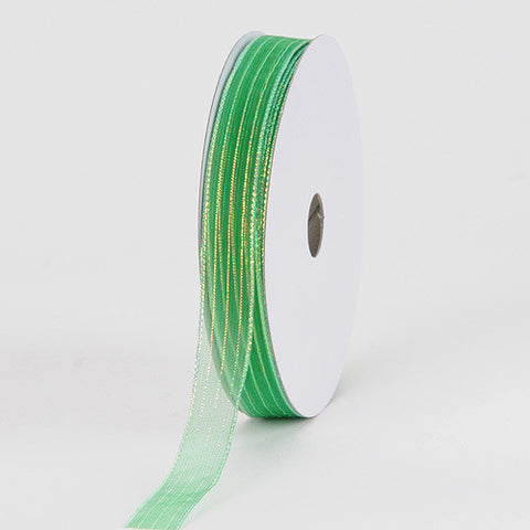 Corsage Ribbon Emerald ( W: 3/8 inch | L: 50 Yards ) -