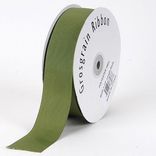 Grosgrain Ribbon Solid Color Old Willow ( W: 7/8 inch | L: 50 Yards )