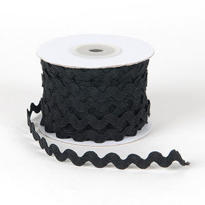 Ric Rac Trim Black ( 10mm - 25 Yards ) -