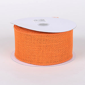 Burlap Ribbon Orange ( 2-1/2 inch | 10 Yards ) -