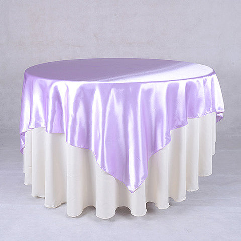 Lavender  60 x 60 Satin Table Overlays  ( 60 x 60 Inch )- Ribbons Cheap