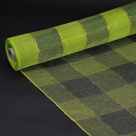 Christmas Mesh Wraps Spring Moss ( 21 Inch x 10 Yards ) -