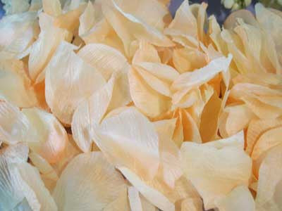 Silk Flower Petal Peach ( 400 Petals ) -