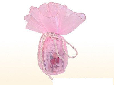 Giant Organza Circle Wrapper Pink With Pink Edge ( W: 28 inch | L: 12 Pieces )
