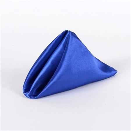 Royal Blue 20 Inch x 20 Inch Satin Napkins - Pack of 5