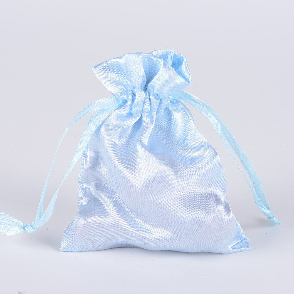 Satin Bags Light Blue ( 3x4 Inch - 10 Bags ) -
