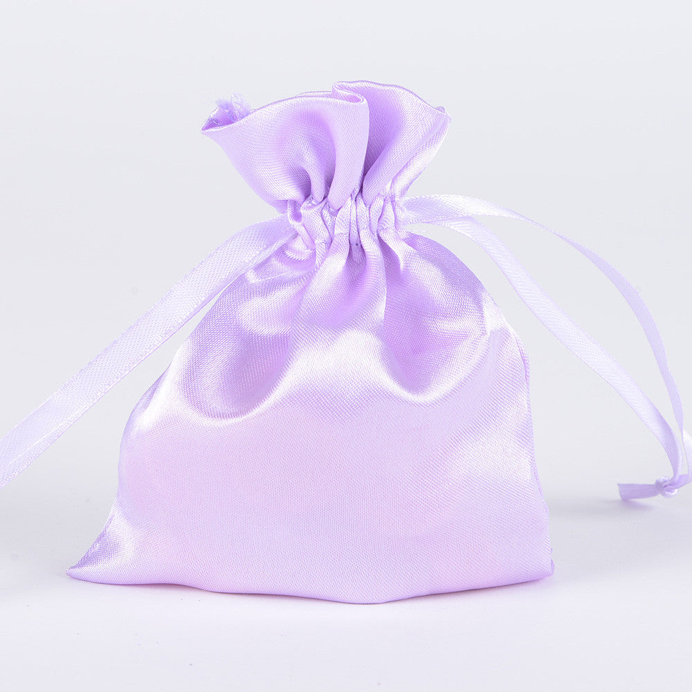 Satin Bags Lavender ( 3x4 Inch - 10 Bags ) -