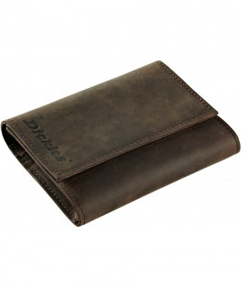 DICKIES OWENDALE LEATHER WALLET - Brown