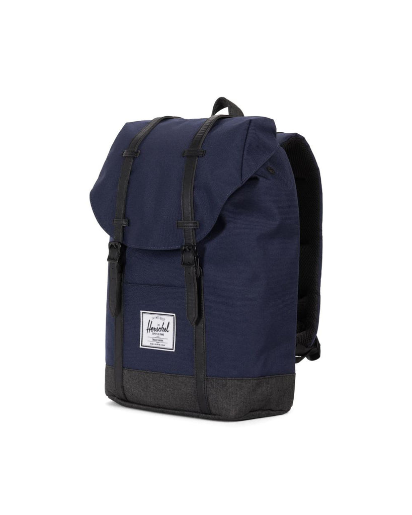 Herschel Retreat Backpack - Peacoat/Black Crosshatch
