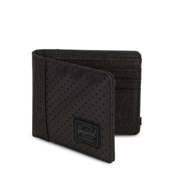 Herschel Edward Wallet - Black Crosshatch/Black/White - Aspect