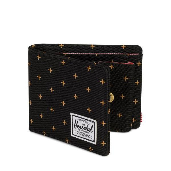 Herschel Roy Wallet | Coin - Black Gridlock Gold