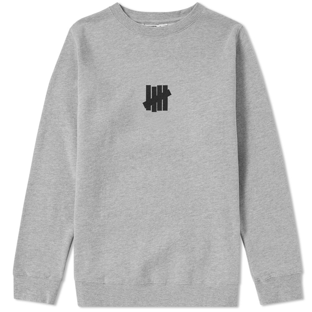 UNDEFEATED CENTRE STRIKE CREW SWEAT - GREY