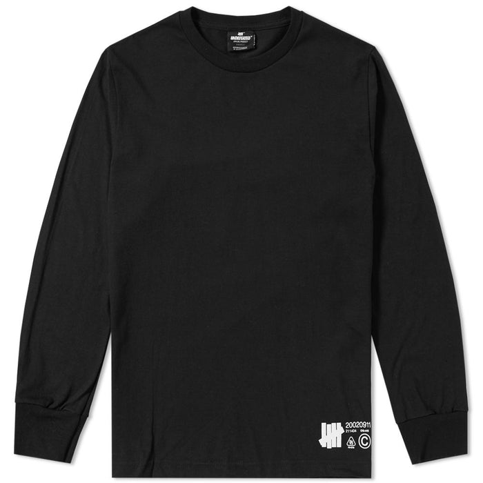 UNDEFEATED LONG SLEEVE LAB SET TEE - BLACK