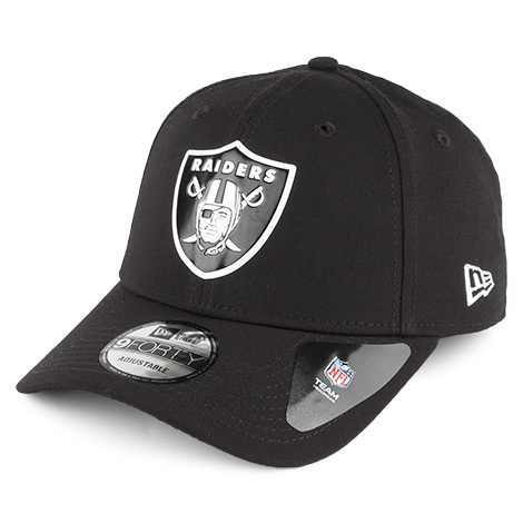 New Era 9FORTY Oakland Raiders Baseball Cap - Poly Weld - Black