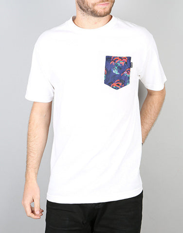 The Quiet Life 'Satin Cloud' Pocket T- Shirt - White