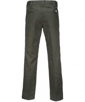 Dickies Slim Straight Work Pants - Olive Green