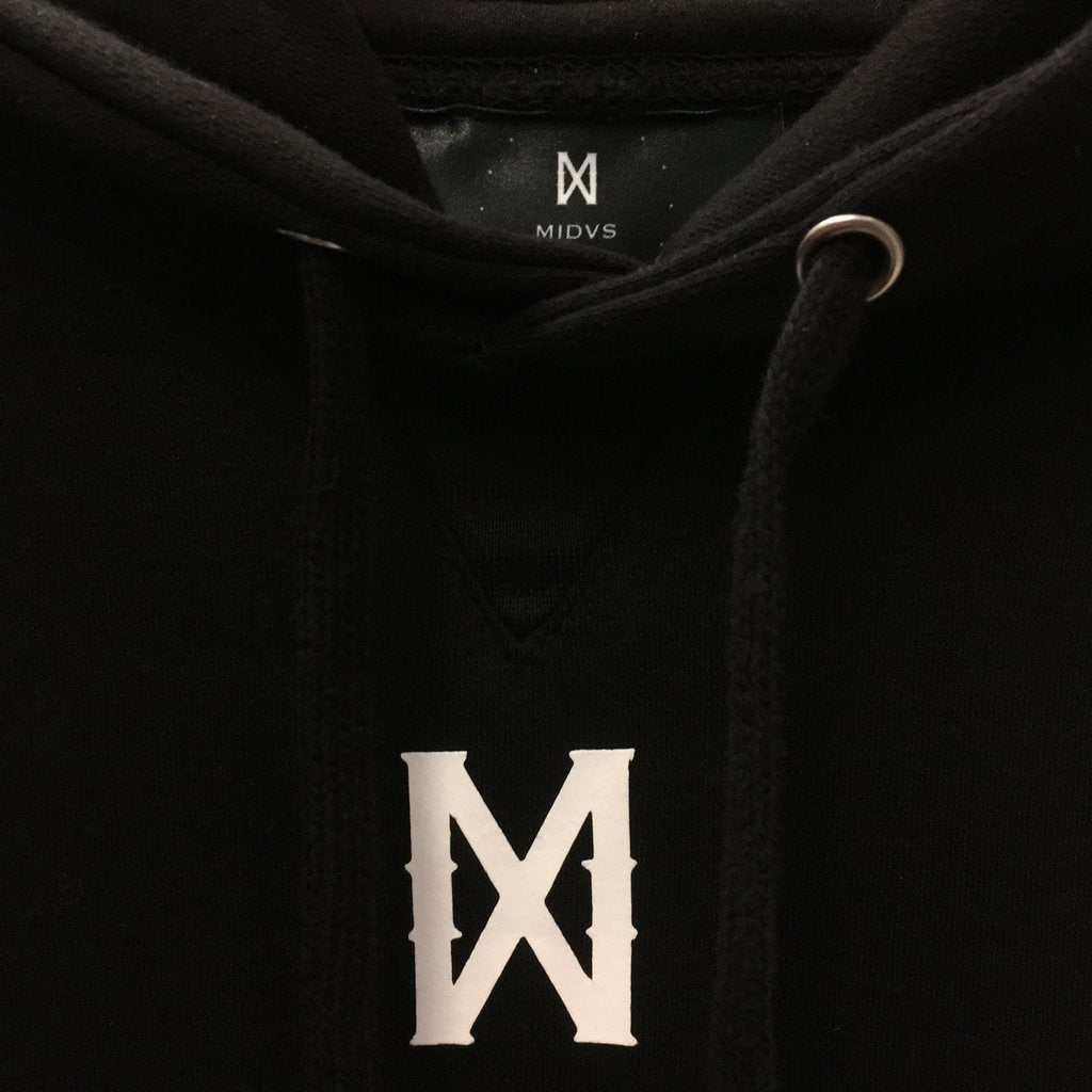 MIDAS CO CORE X LOGO HOODY - BLACK / WHITE