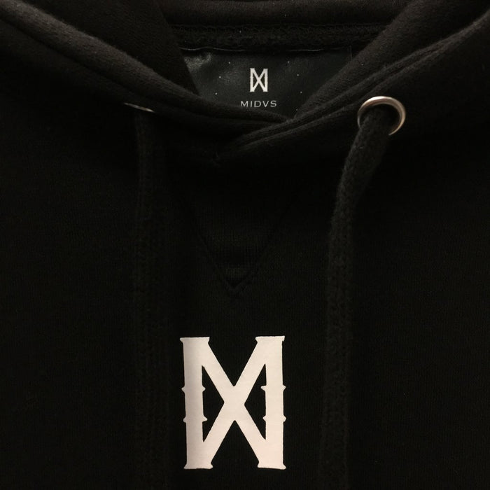 MIDVS CO CORE X LOGO HOODY - BLACK / WHITE