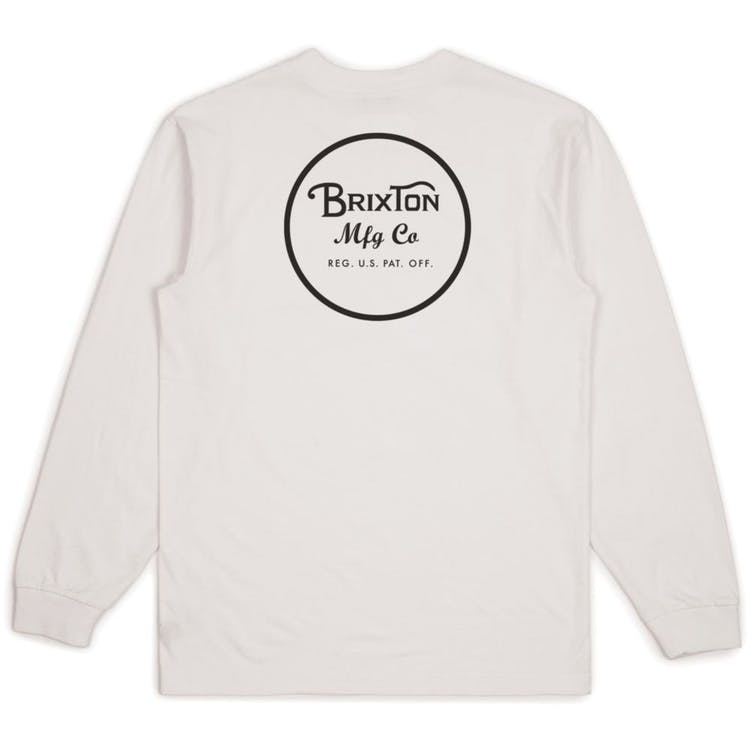 Brixton Wheeler II Long Sleeve T Shirt - White