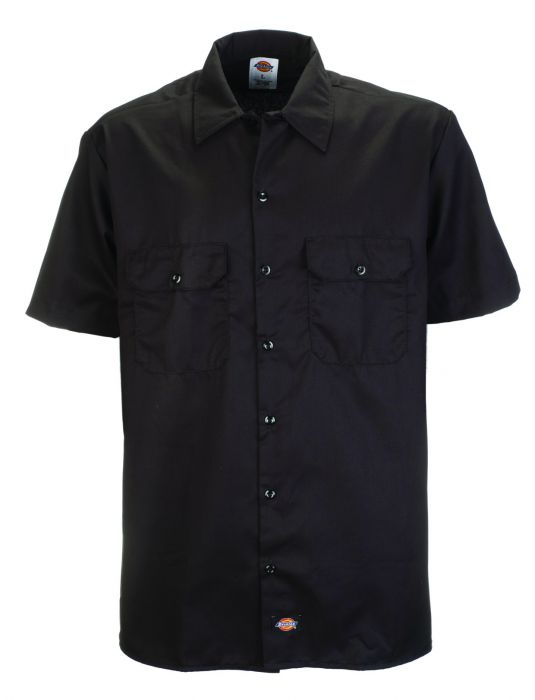 DICKIES Dickies Short Sleeve Work Shirt - BLACK