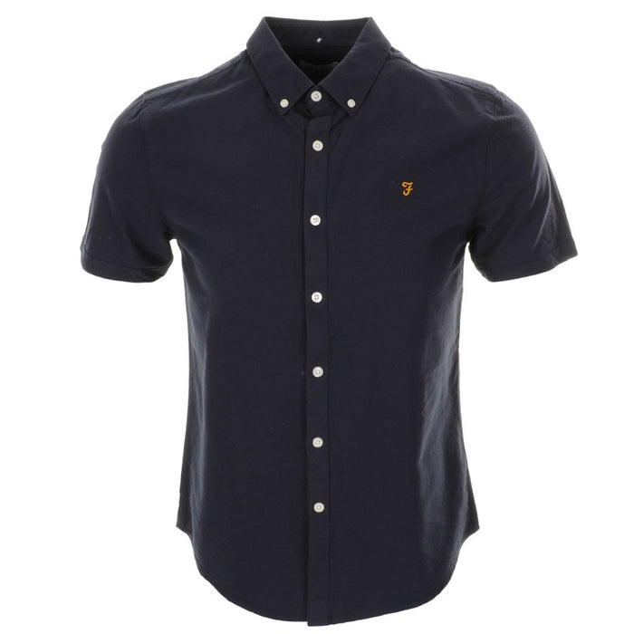 FARAH VINTAGE 'BREWER' SHIRT - NAVY