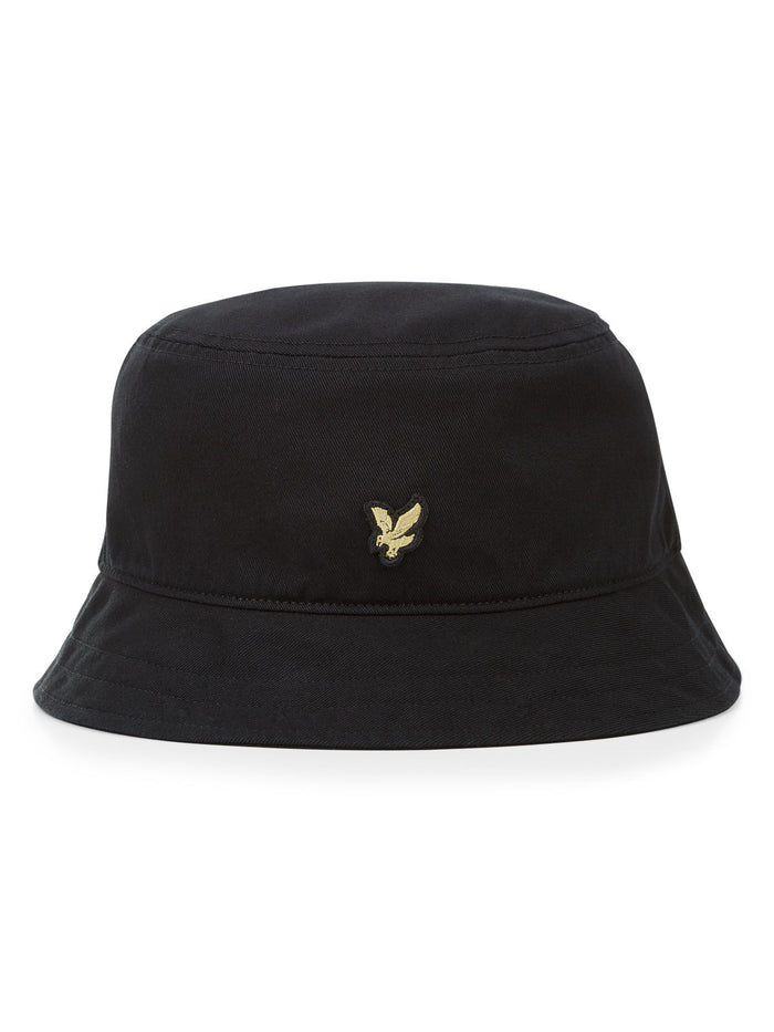 Lyle & Scott Cotton Twill Bucket Hat - Black
