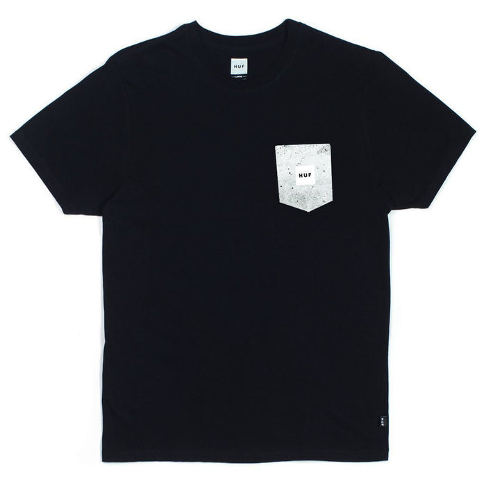 Huf Concrete 'Box Logo' PKT Tee - Black