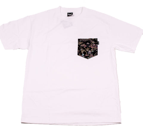 The Quiet Life Cotton Peony pocket T shirt