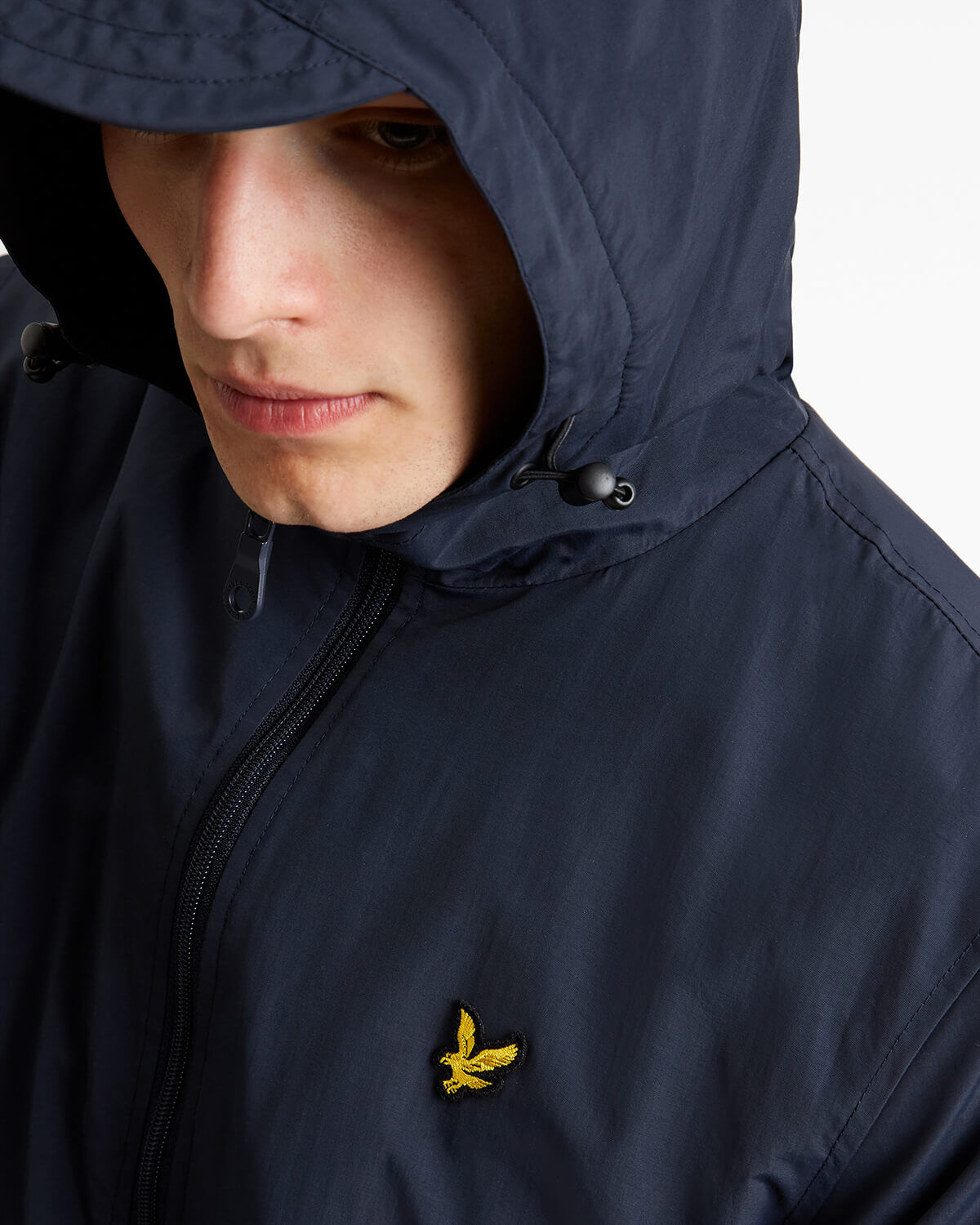 LYLE & SCOTT Microfleece Lined Zip Through Mens Hooded Jacket - BLACK
