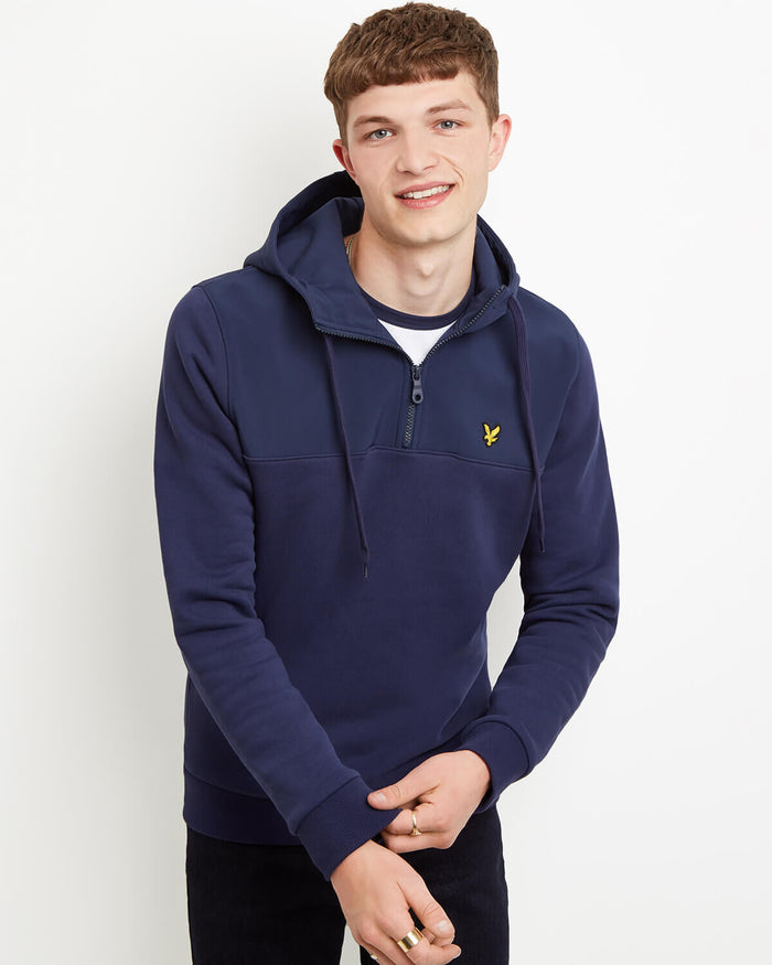 LYLE & SCOTT Softshell Jersey 1/4 Zip Pullover - Black