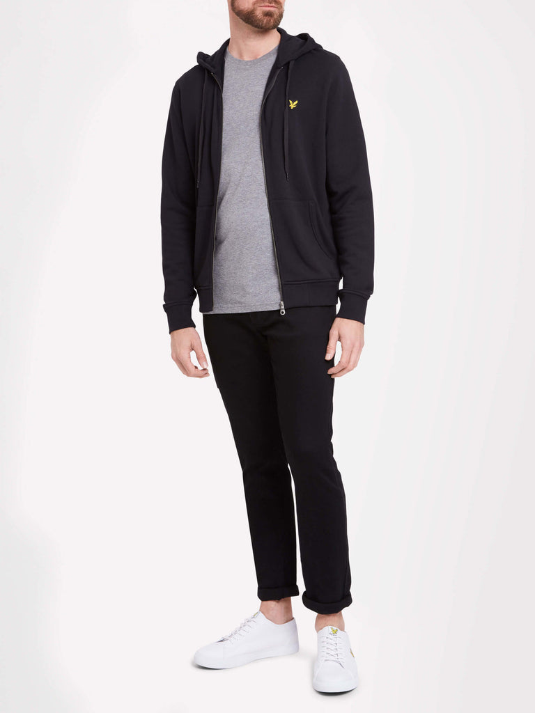 Lyle & Scott Zip Through Hoodie - BLACK