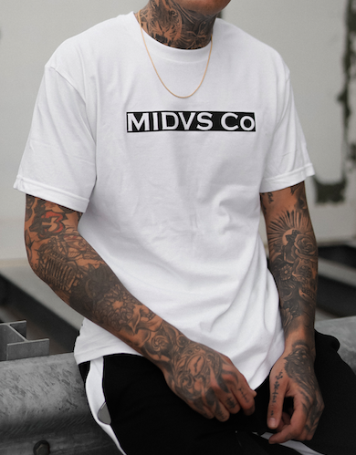 MIDVS CO PRIMO BOX LOGO T SHIRT - WHITE