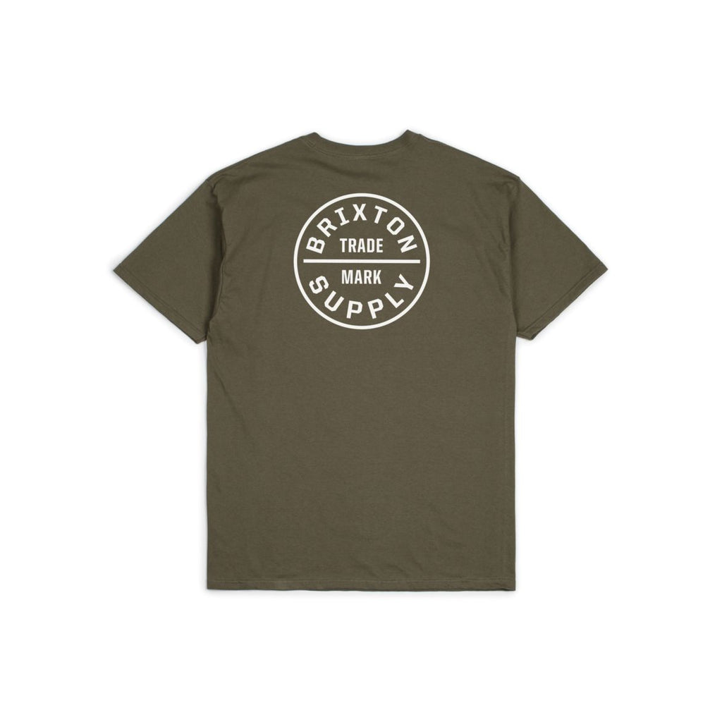 Brixton 'Oath' Standard Tee - Olive White