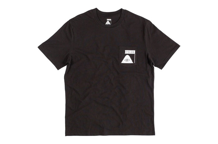 POLER APPAREL SUMMIT POCKET TEE - BLACK