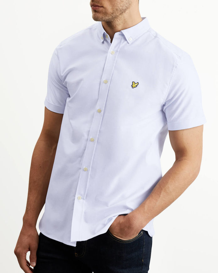 Lyle & Scott Short Sleeve Oxford Shirt - White