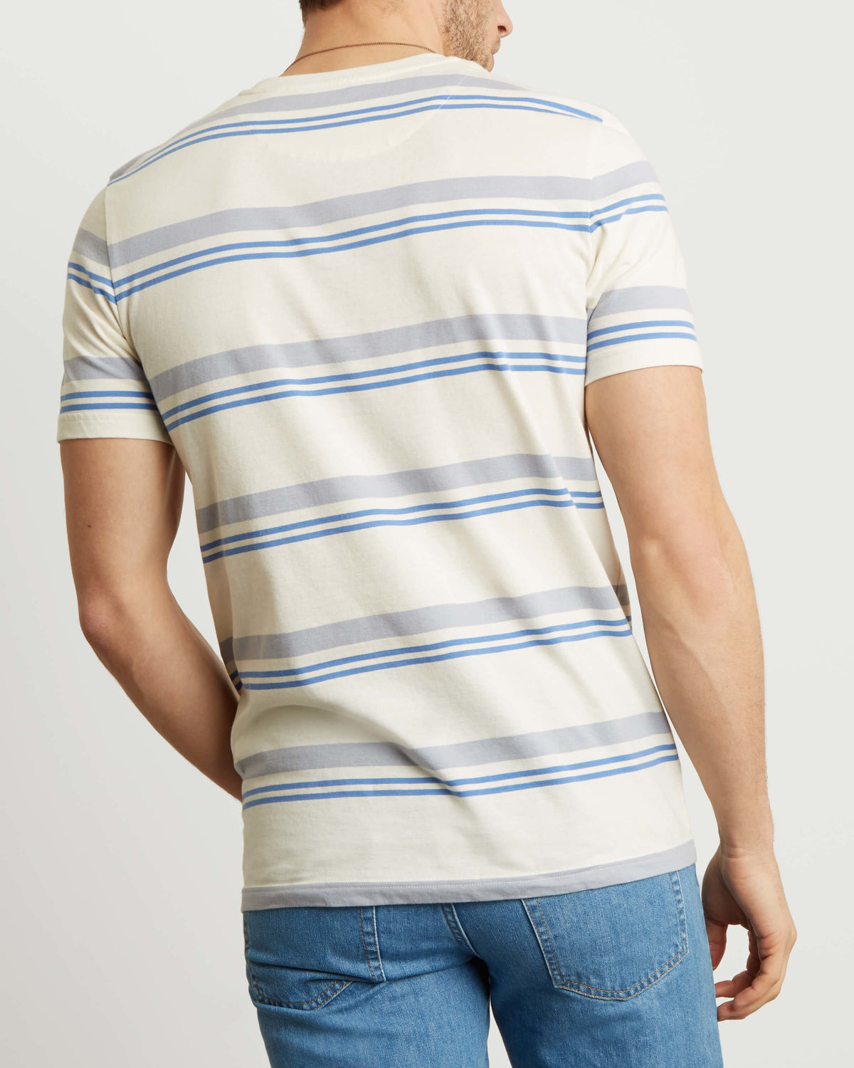 LYLE & SCOTT Stripe T-Shirt - SNOW WHITE