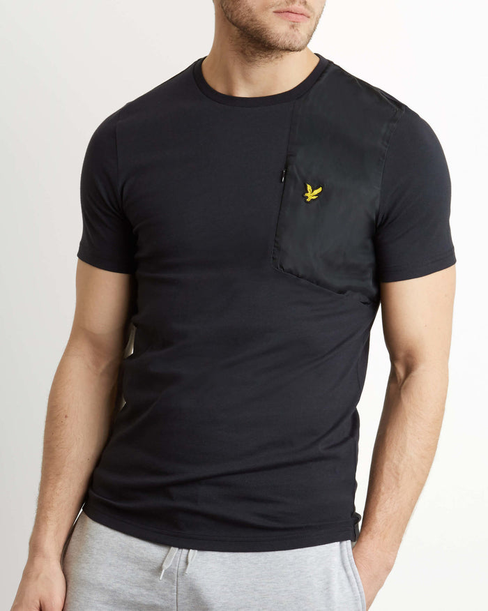 LYLE & SCOTT Casuals Fabric Mix T-Shirt - Black