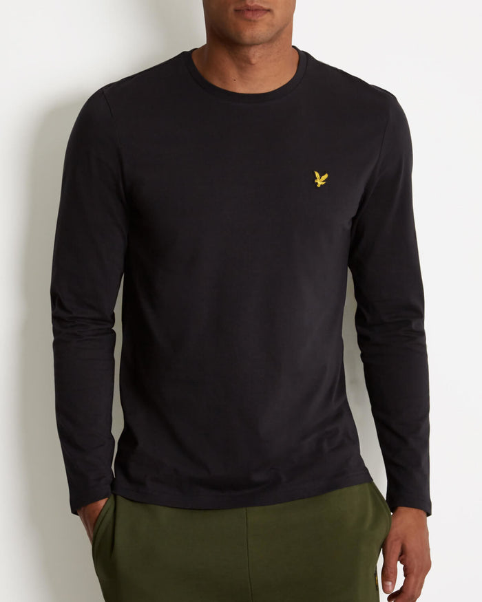 Lyle & Scott Long Sleeve Crew Neck T-Shirt - Black
