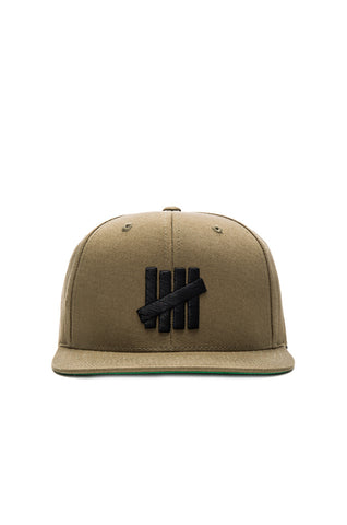 Undefeated 5 'Strike' Snapback - Olive