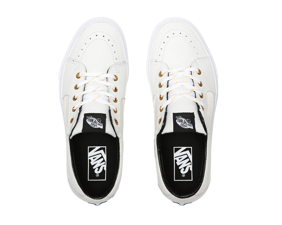 VANS SK8-LOW LEATHER - TRUE WHITE