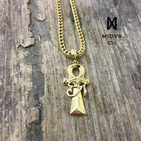 Midvs co The 'Ankh & Eye' Pendant - Gold