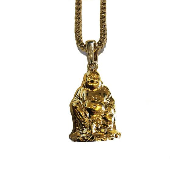 Midvs co The 'Bodhi' Buddha Micro Pendant - Gold