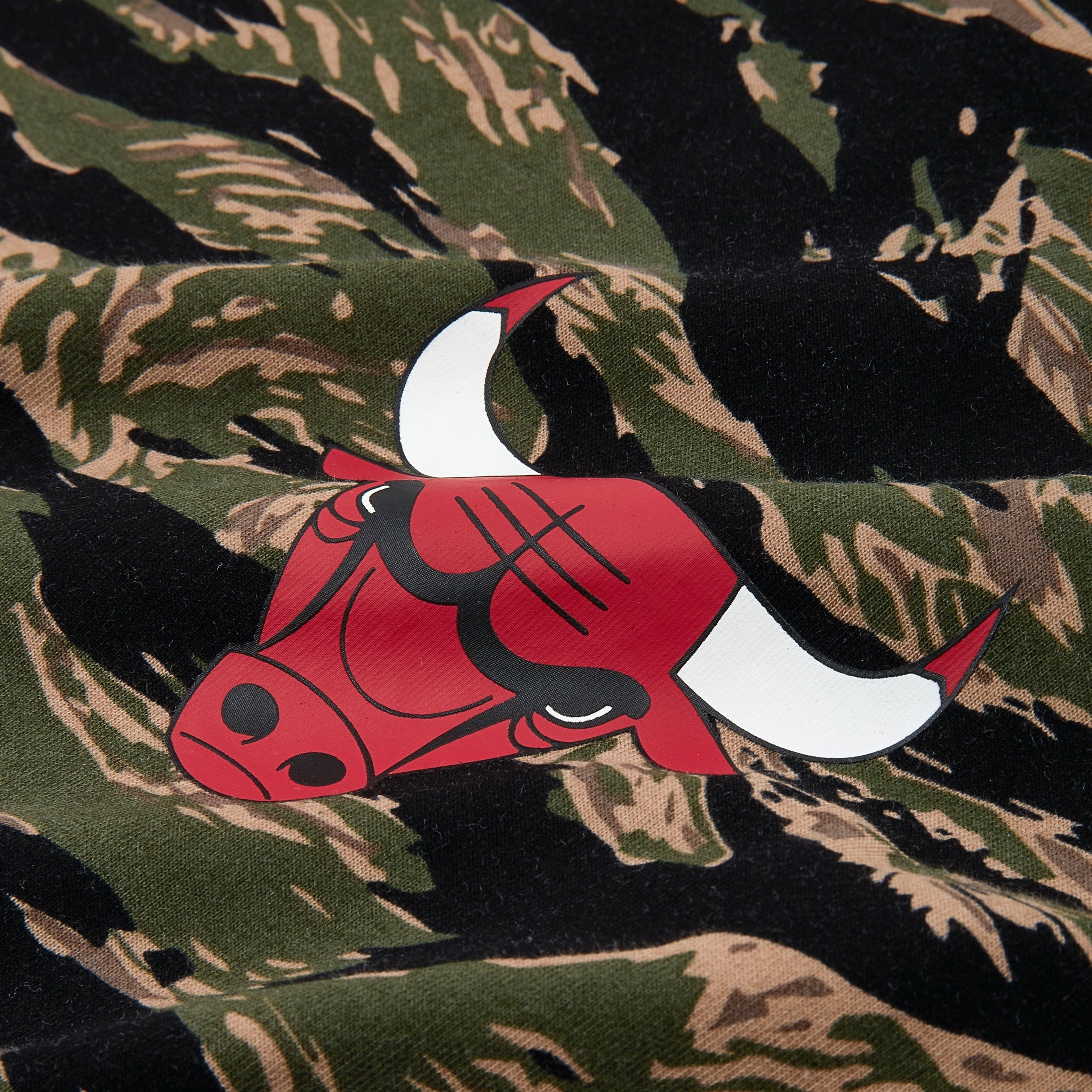 Mitchell and Ness Lakers Bulls Oversized tee - Tiger Camo