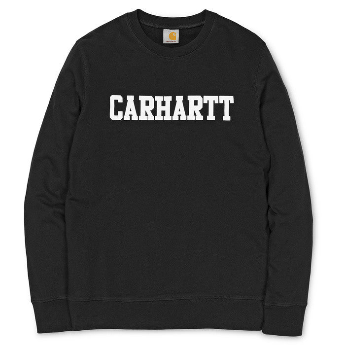 Carhartt 'College' Crewneck Fleece Sweater - Black