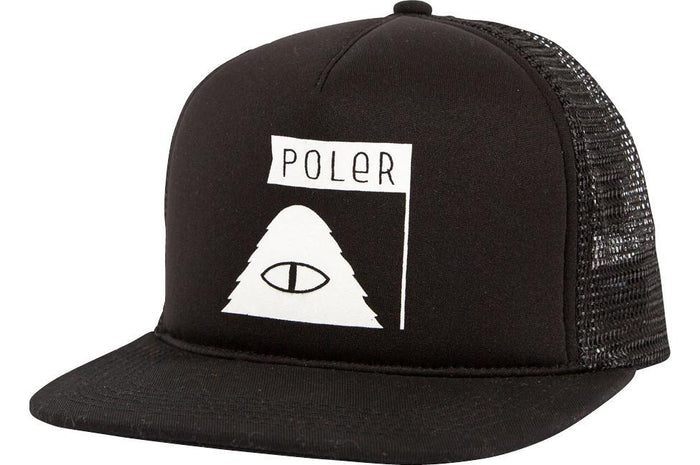 POLER APPAREL SUMMIT MESH TRUCKER CAP- BLACK
