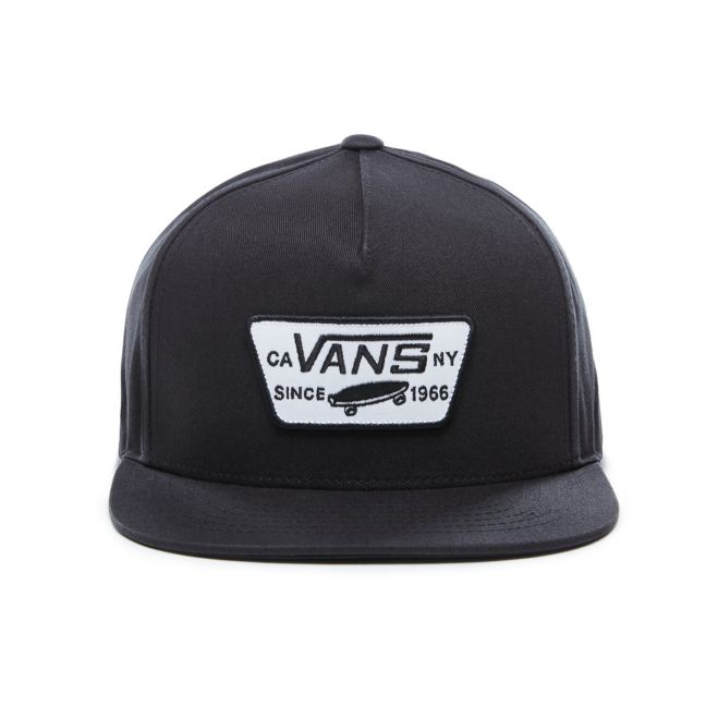 VANS FULL PATCH SNAPBACK HAT - BLACK
